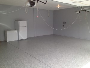 Hanover MN Garage floor coating project