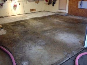 unprotected garage floor